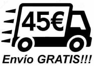 45 euros para envío gratis