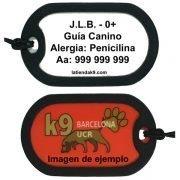 chapa identificativa Dog Tag para guía canino