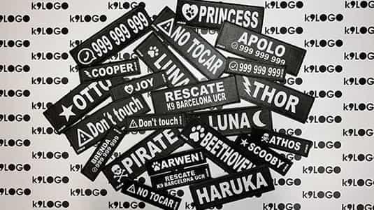 etiquetas personalizadas para arneses julius k9
