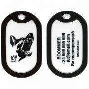 placas identificativas para perros k9