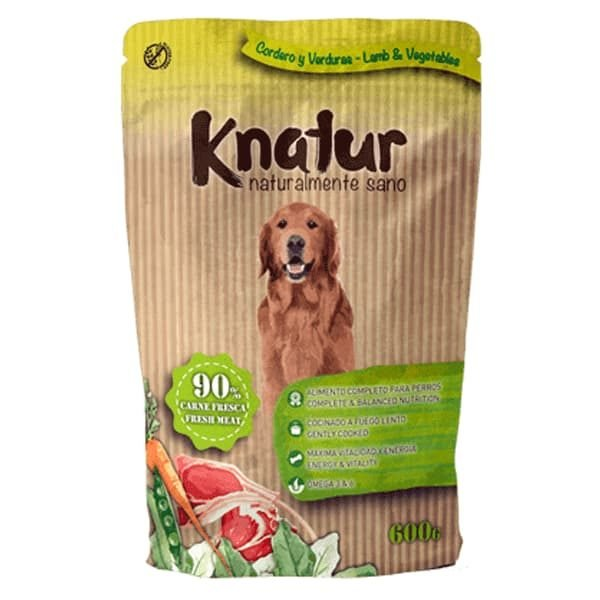 comida húmeda para perros knatur de cordero