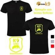 camiseta k9 personalizada