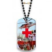 colgante de cruz roja