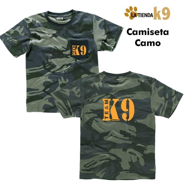 camiseta camuflaje k9 team